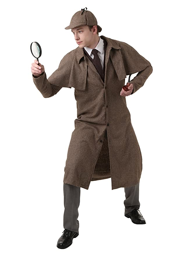 Victorian Men's Costumes: Mad Hatter, Rhet Butler, Willy Wonka Fun Costumes mens Adult Sherlock Holmes Costume $71.49 AT vintagedancer.com