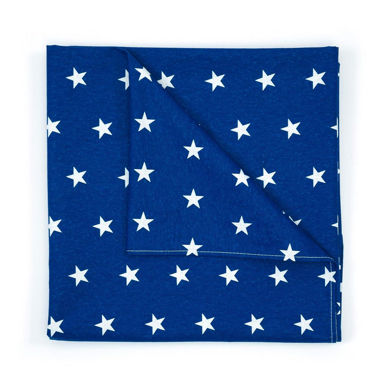 f/ürs Baby Amilian Spannbettlaken Spannbetttuch f/ür Babybett Kinderbett 60x120 cm Baby Bettw/äsche Gr/ö/ße: 120x60 cm Muster: Herzen Blau 100/% Baumwolle 70x140 cm