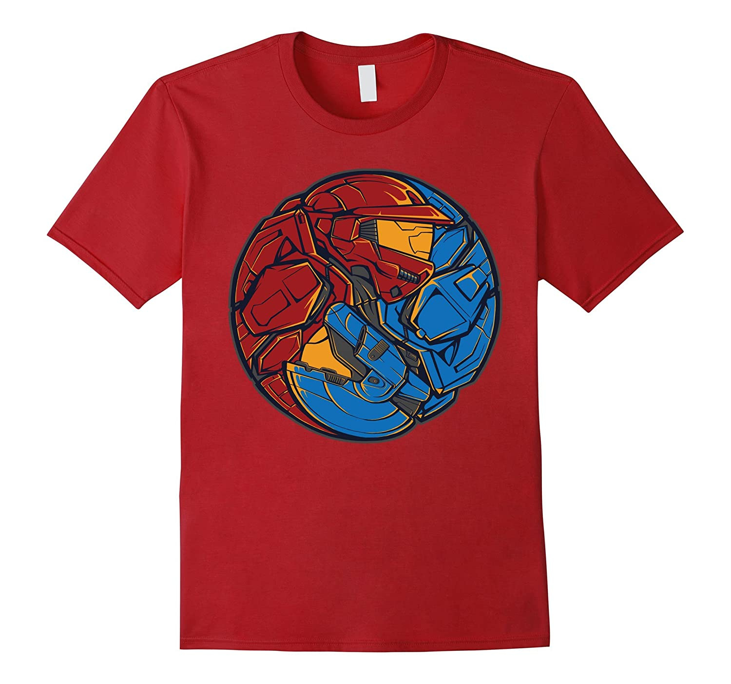 Red vs blue shirt video game t shirt goatstee for Red and blue t shirt