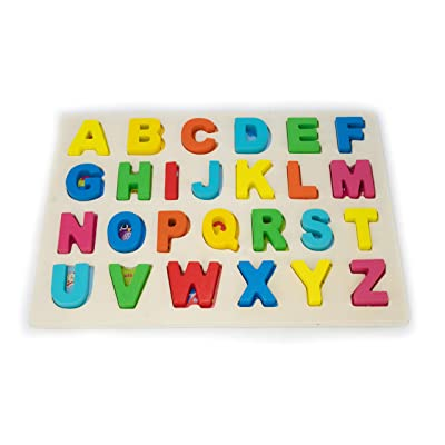 Halizones - Wooden Alphabet Letters Puzzle Set Educational Puzzles for Toddlers of Age 3 and Age 4 - Alphabet Puzzle Learning Letters Alphabet Board Toys for Boys and Girls Great Gift ABC Big Letters: Toys & Games