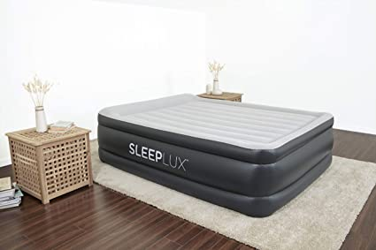 Sleeplux Queen Air Mattress With Built In Ac Pump 22 Raised Inflatable Airbed Includes Built In Pillow And Usb Charge Port Best Back And Shoulder Support Durable Tritech Material Amazon Ca