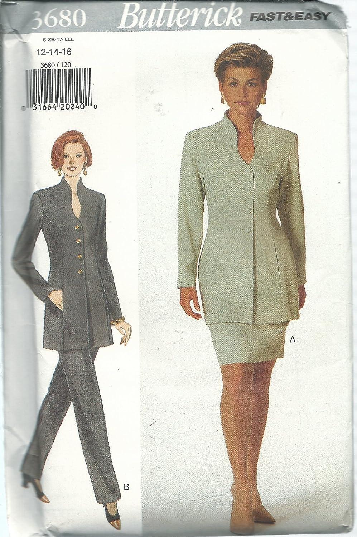 Butterick 3680 - Patrones de costura para falda de mujer (tallas ...