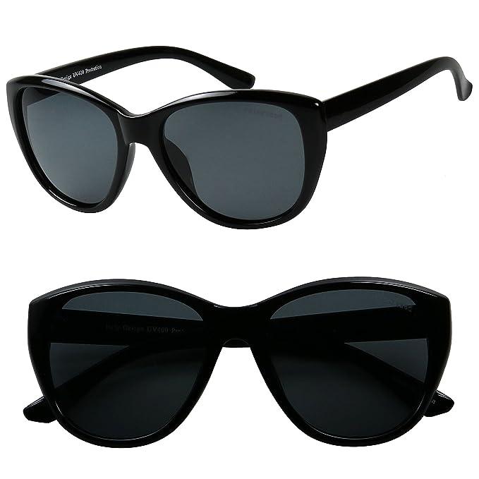 1e2147640b4 ShadyVEU - Classic Cat Eye POLARIZED Minimalist Fashion 100% UV Sunglasses (2  Pack Set