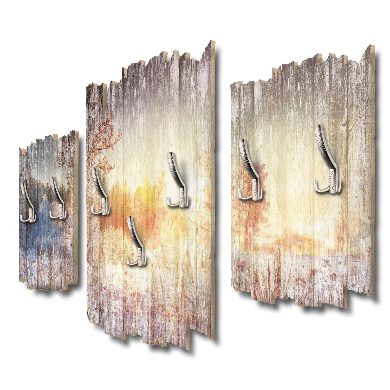 Kreative Feder Winterspaziergang Designer Wandgarderobe Flurgarderobe Wandpaneele 95 x 60 cm aus MDF DTGH115