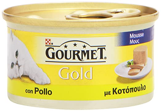 Gourmet Gold, Comida para Gatos, Mousse con Pollo – 85 g