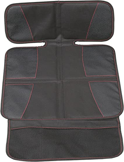 Dog Mat Non Slip and Waterproof Protects Automotive Vehicle Upholstery Car Seat Protector Extra Storage Pocket Thickest Padding Protection for Child /& Baby Cars Seats