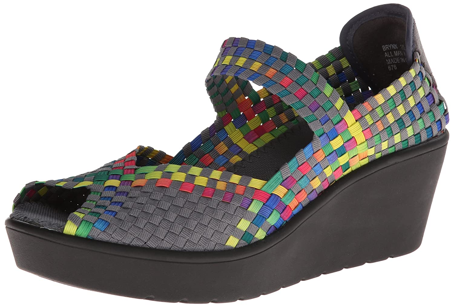 STEVEN by Steve Madden Women's Brynn Wedge Sandal B00I479Q3I 8.5 B(M) US|Bright Multi