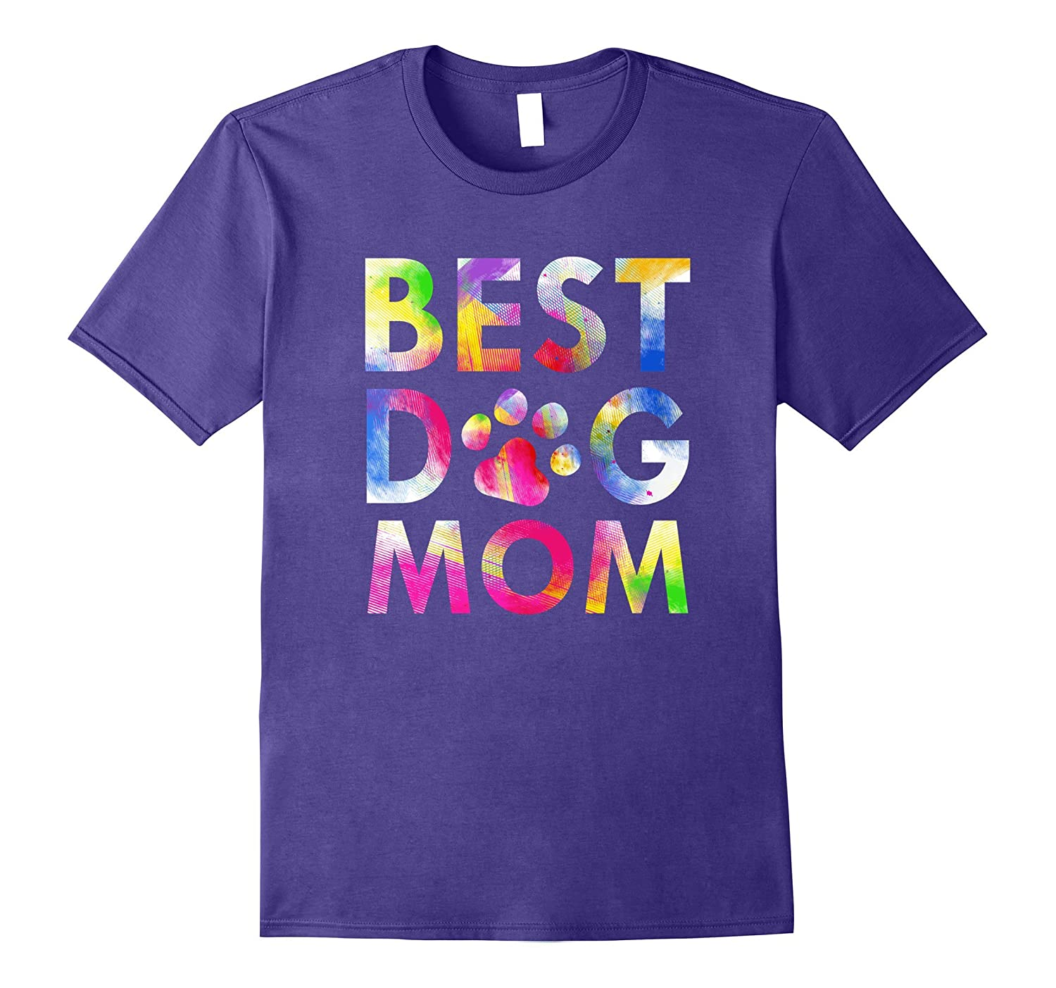 Best Dog Mom T-Shirt Attractive Watercolor Paint Art Paws-ANZ