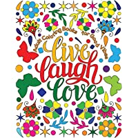 Image for Adult Coloring Book for Good Vibes: Live Laugh Love Motivational and Inspirational Sayings Coloring Book for Adults