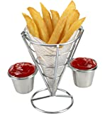 HUAXIONG High quality French fry holder V Appetizer Cones Table Craft Appetizer Cones, Chip Baskets, Chip Holders, Appetizer Presentation Baskets ?Chip Cone