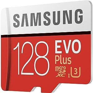 Samsung 128GB EVO Plus Class 10 Micro SDXC with Adapter (MB-MC128GA) (Color: Multicolor, Tamaño: One Size)