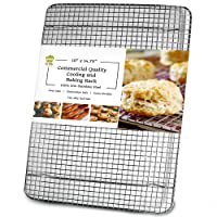 Ultra Cuisine 100% Stainless Steel Cooling and Baking Rack fits Jelly Roll Sheet...