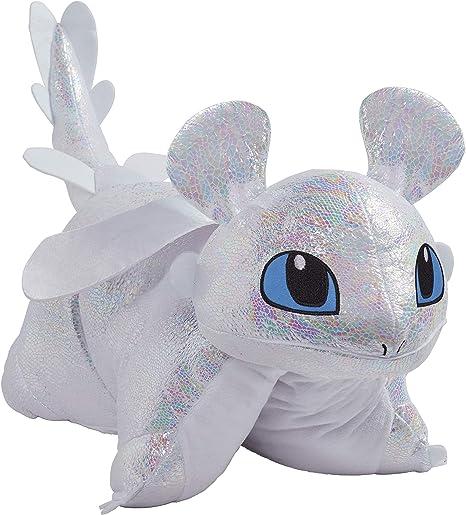 "NEW Universal Studios How To Train Your Dragon Light Fury 15/"" Glitter Plush Toy"