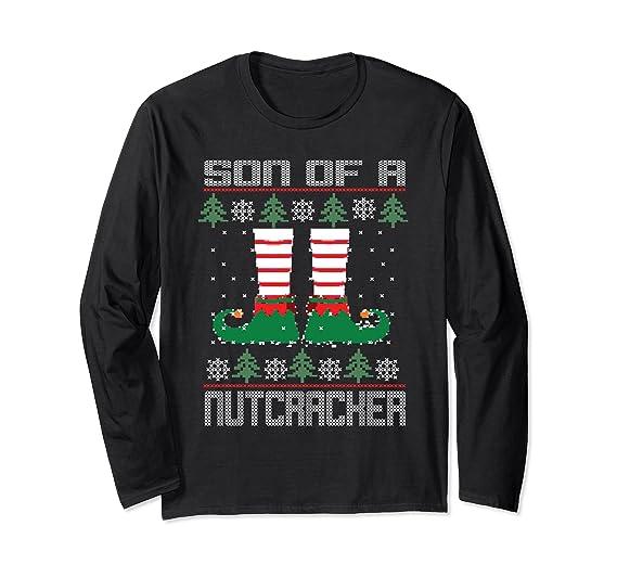 Amazoncom Son Of A Nutcracker Jumper Ugly Christmas Sweater Shirt
