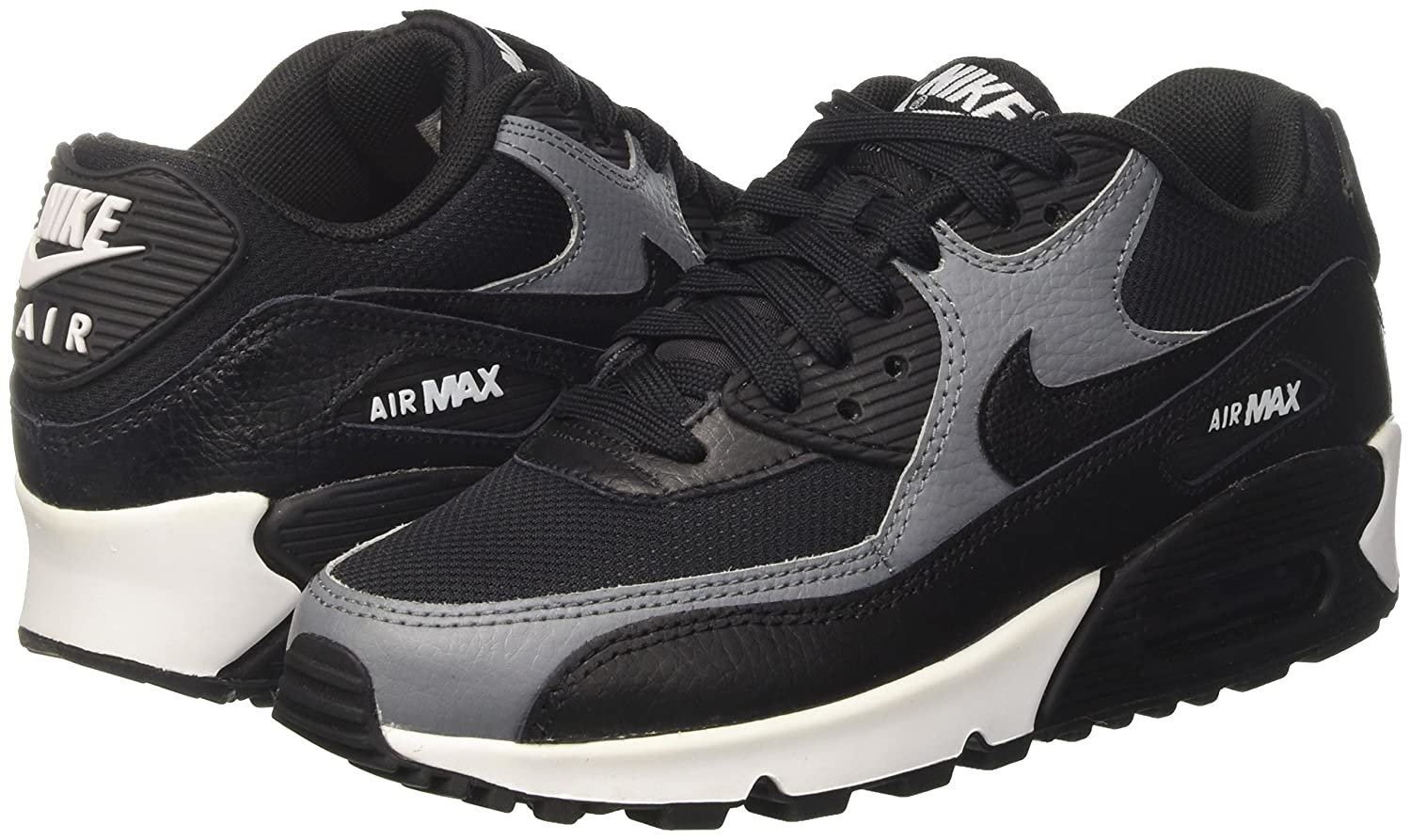 Nike 325213 037 : Women's Air Max 90 BlackBlackCool Grey