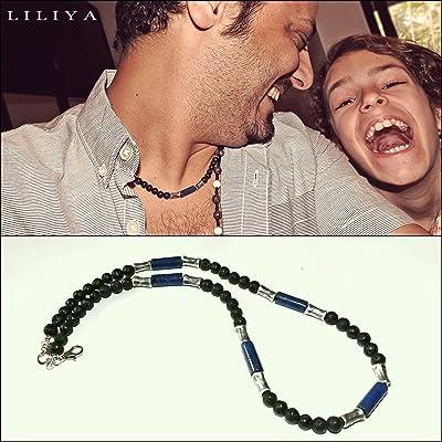Lapis necklace - Surfer necklace - Real lava and Lapis gems - Men Necklace - Gift for men - Unisex necklace - Men jewelry