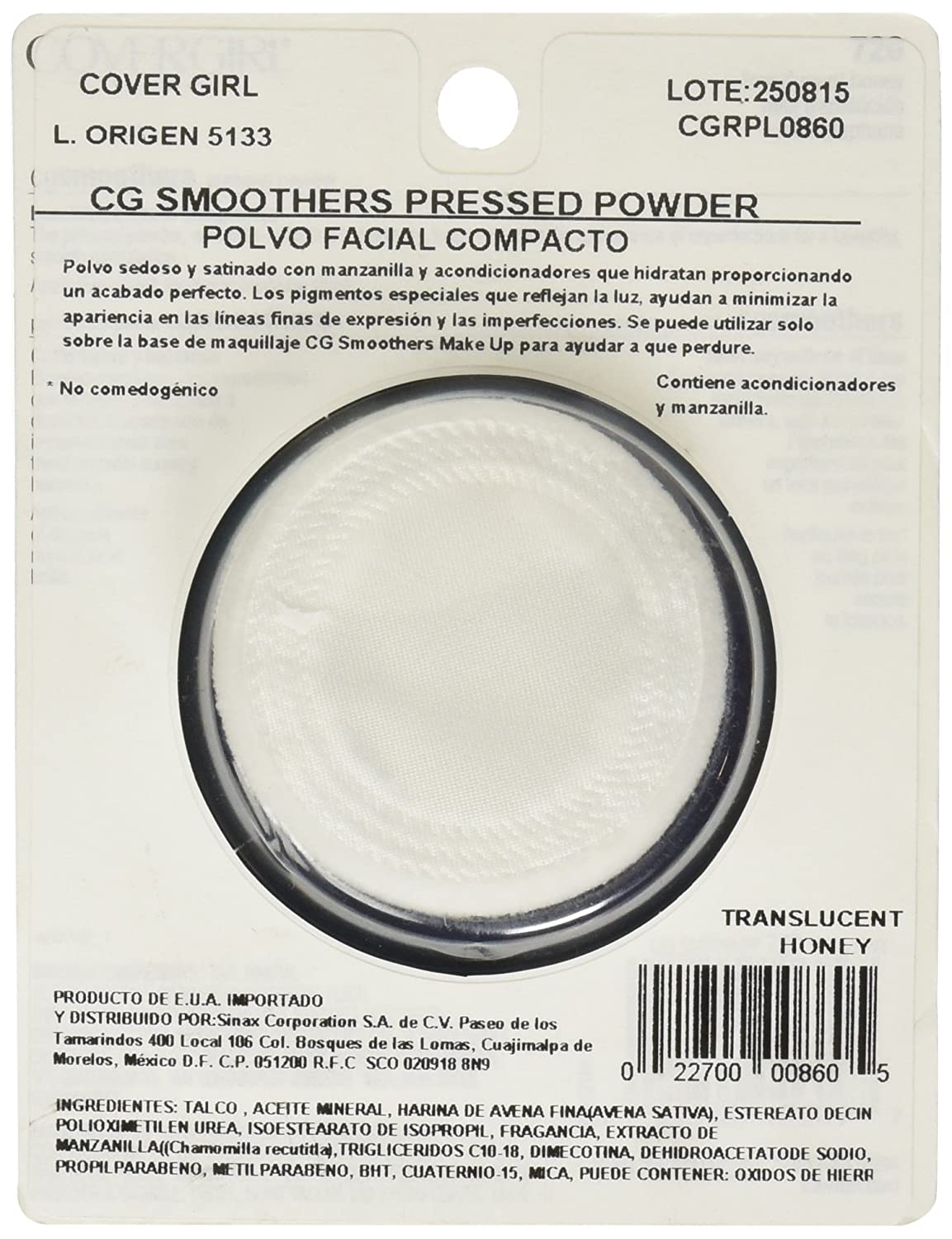 Amazon.com : CoverGirl Smoothers Pressed Powder, Translucent Honey [720] 0.32 oz : Beauty