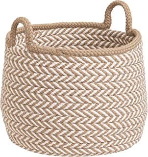 "product image for Colonial Mills Preve Basket, 18""x18""x17"", Taupe & White"