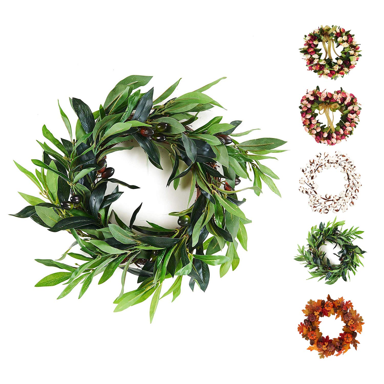 5pcs Lifelike Green Palm Branch Leaves Wedding Party Home Decor 38cm BH