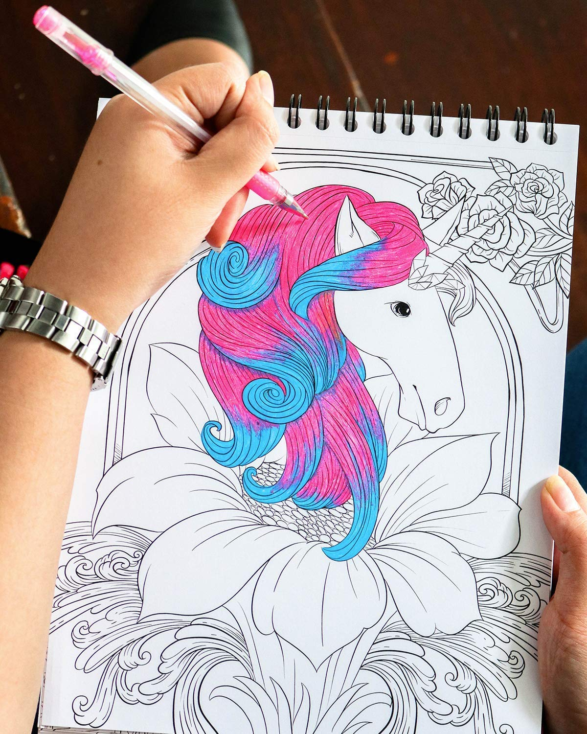 ColorIt Colorful Unicorns Adult Coloring Book - 50 Single-Sided Pages, Thick Smooth Paper, Lay Flat Hardback Covers… 8