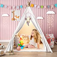 Senodeer Teepee Tent for Kids Play Tent for Girls/Boys with Ferry Lights + Floor Mat + Carry Case, Large Toys for Kids…