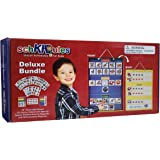 SchKIDules Visual Schedule for Kids Deluxe Bundle Daily Activity Chart / Weekly Progress Chart, 2-Sided Trifold Magnet Board