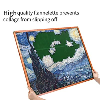 Anwenwen Jigsaw Puzzle Board Hold Up 1000 Pieces 31x25 Portable Puzzle Saver Organizer with Non-Slip Surface for in-Progress Puzzle Storage