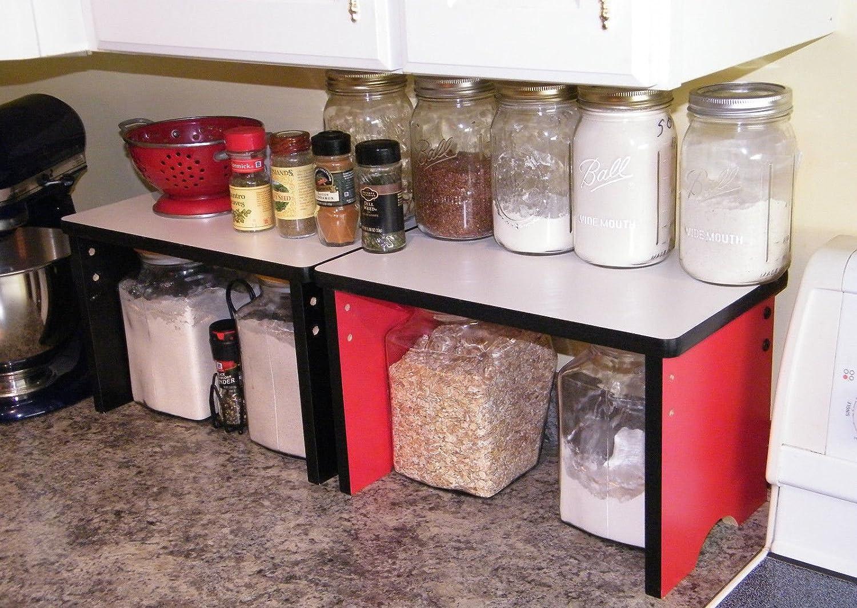 Amazon.com: Kitchen Countertop Small Shelf Space Saver Organizer    Stackable: Kitchen U0026 Dining