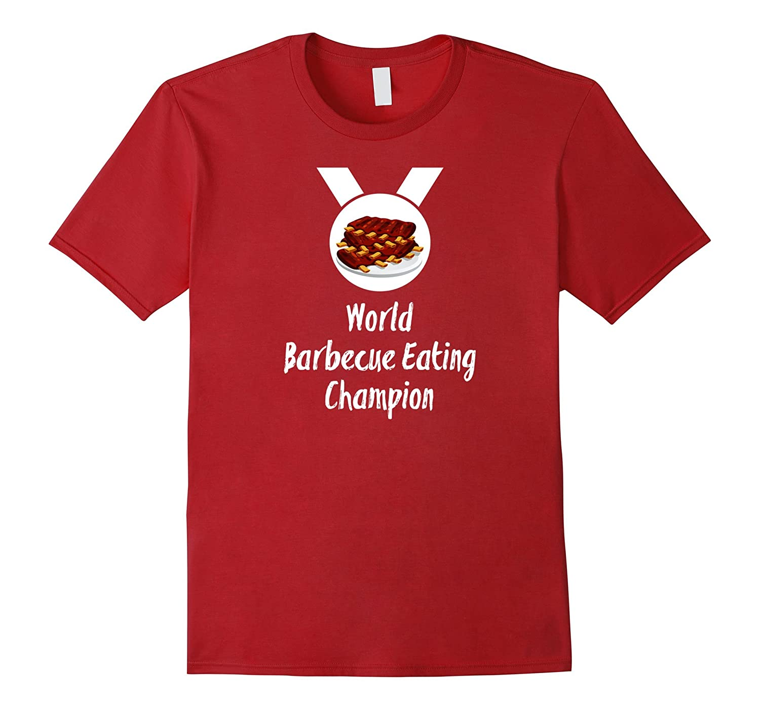 Fun World BBQ Eating Champion T-shirt For Food Lovers Wht-FL