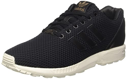 d6f9062d4d3d4 adidas Mens Originals Mens ZX Flux Trainers in Black - UK 10