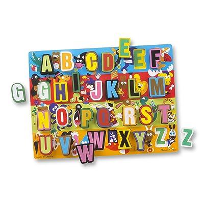 Melissa & Doug Jumbo ABC Wooden Chunky Puzzle (26 pcs): Melissa & Doug: Toys & Games [5Bkhe1006622]