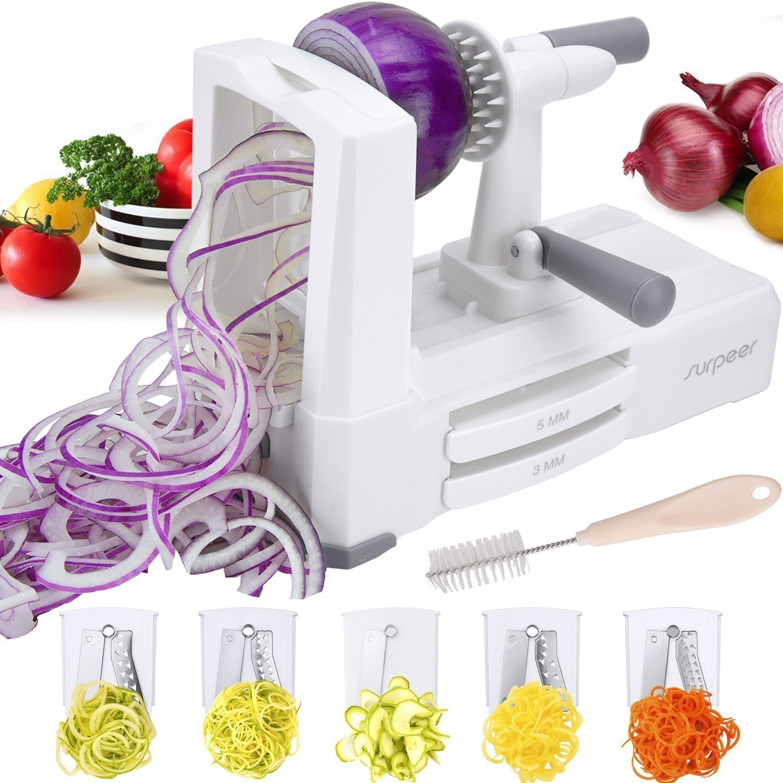 Amazon.com: SURPEER 5-Blade Slicer For Fruits And Vegetables, Noodle ...