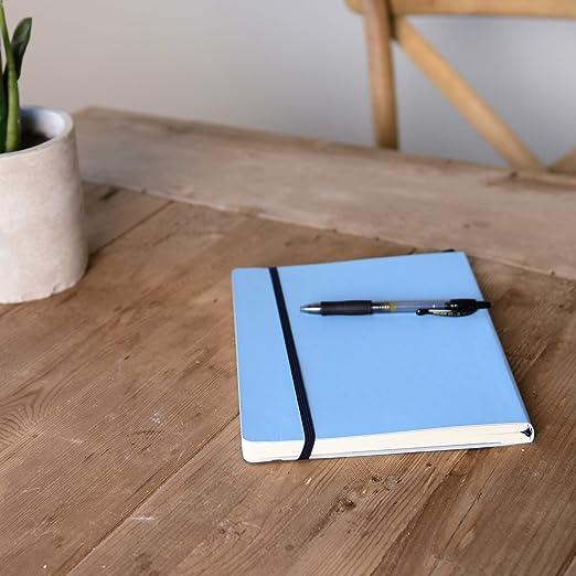 PAIPUR Quaderno Taccuino ~ Formato MISTO griglia puntinata su un lato e righe sull/'altro ~ LARGO Interlinea 10mm ~ GRANDE 25x19cm ~ Copertina Morbida ~ Carta Lusso 100GSM per tutti i tipi di penna