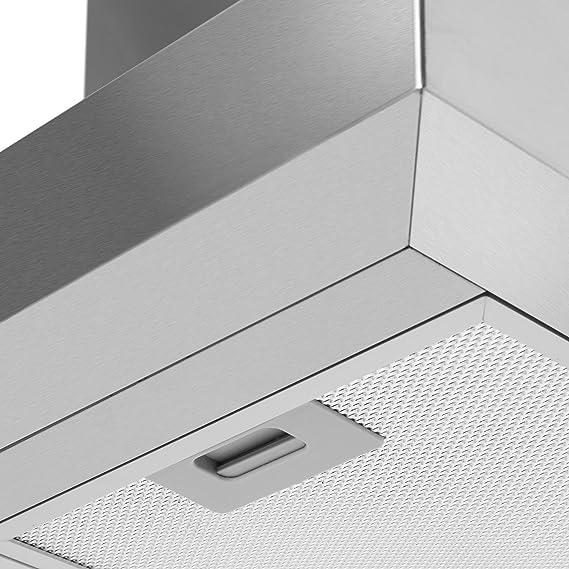 Klarstein Zelda 90 - Campana de extracción, Campana extractora de pared, 90 cm de ancho, Circulación de aire, Succión de hasta 650 m³/h, Filtro de aluminio para grasa, Filtro Carbón activo: Amazon.es: Hogar