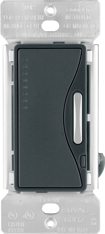 eaton 9534ws core aspire 9534 preset smart dimmer, 120 vac, 600 w, 1 p,  satin, white - wall dimmer switches - amazon com