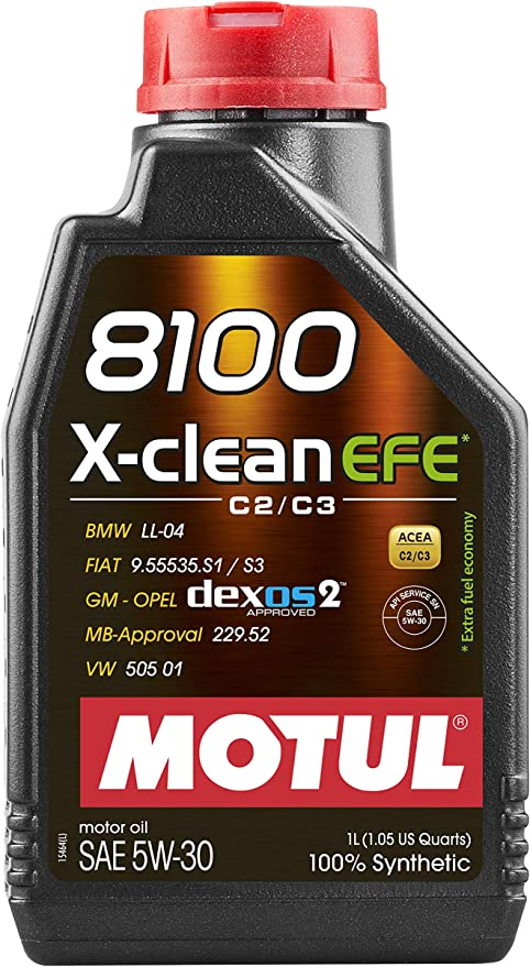 Motul 8100 X Clean Efe 5w30 1 Litre Bottle Auto