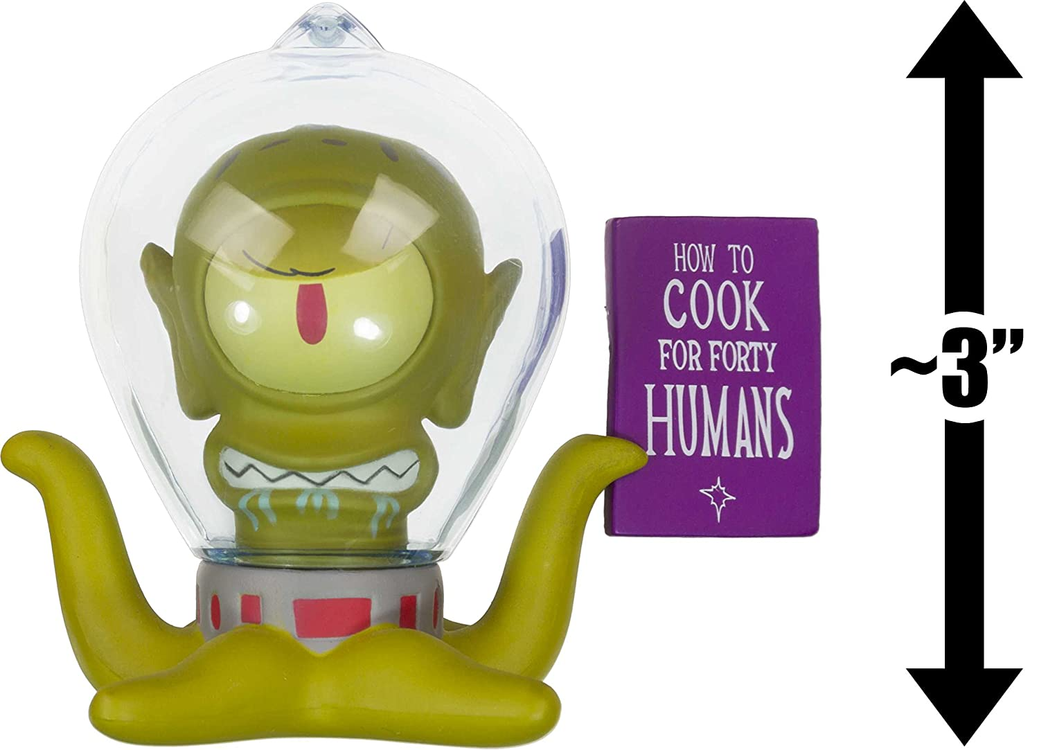 Alien Kang with Book:The Simpsons Kidrobot Treehouse of Horror