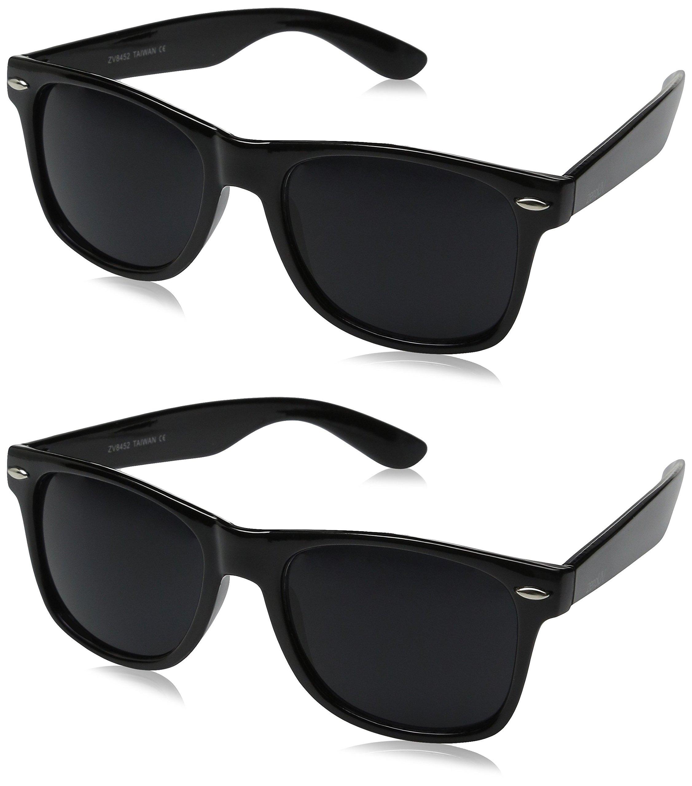 zeroUV ZV-8452ee Wayfarer Sunglasses (Two Pack)
