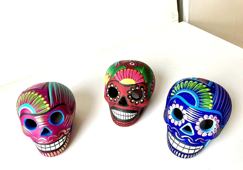 Artesano Hand-Painted Mexican Sugar Skull   ONE Skull   3