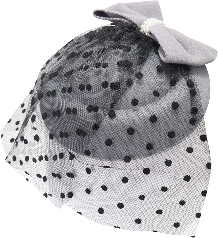 Ro Rox Cappello Grace Perle Rete Vintage Retro 1940 1950 Fascinator Matrimonio Party Pinup