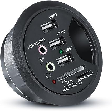 CSL - Conducto para Cables Mesa con USB Hub: Amazon.es: Electrónica