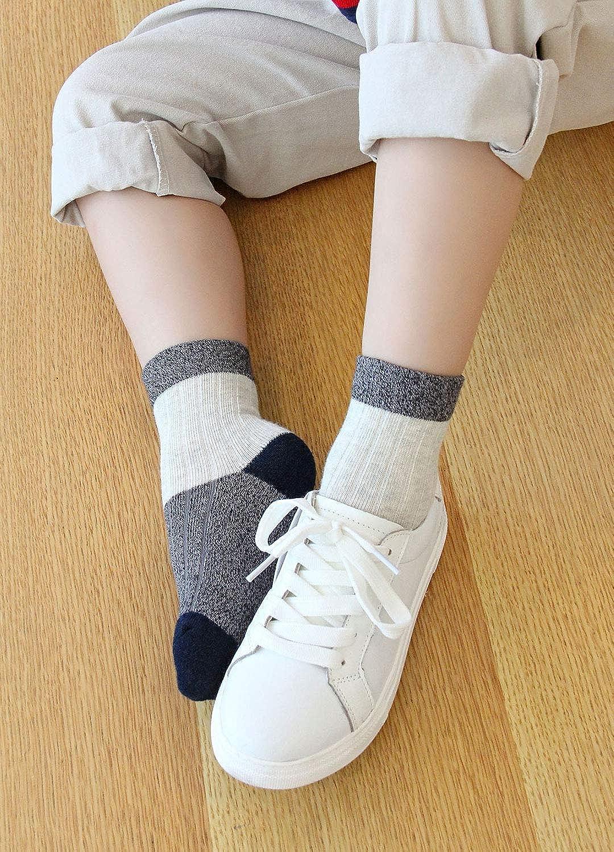 f/ür 2-11 Jahre 5 Paare LOFIR Kinder Socken aus Baumwolle Jungen Sneaker Socken Kleinkind Niedliche Bunt Socken Weich Atmungsaktiv Str/ümpfe L/ässige Sport Schulen Laufen Socken Gr/ö/ße 20-34