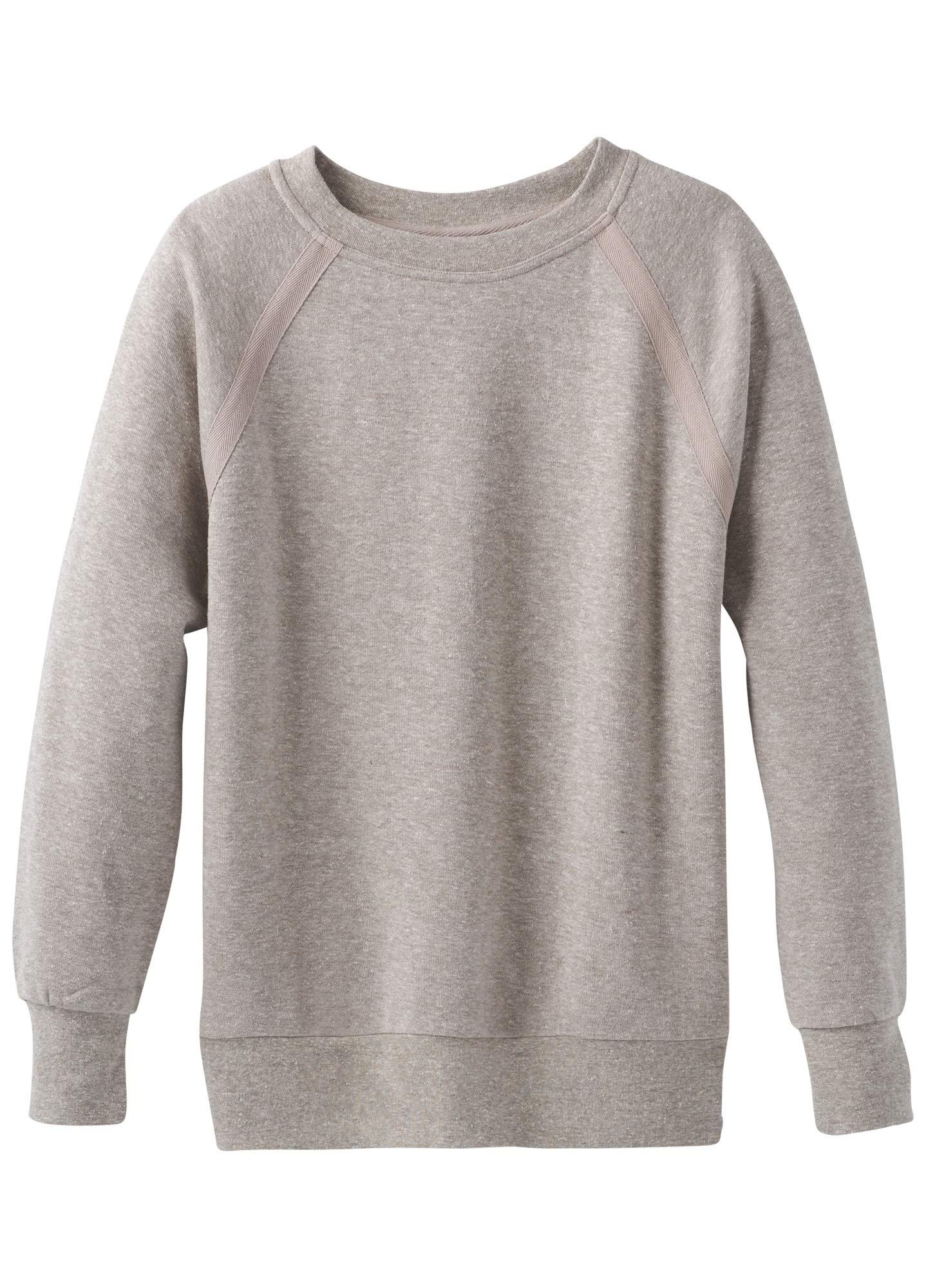 prAna Women's Cozy Up Sweatshirt, Oatmeal Heather, X-Large by prAna