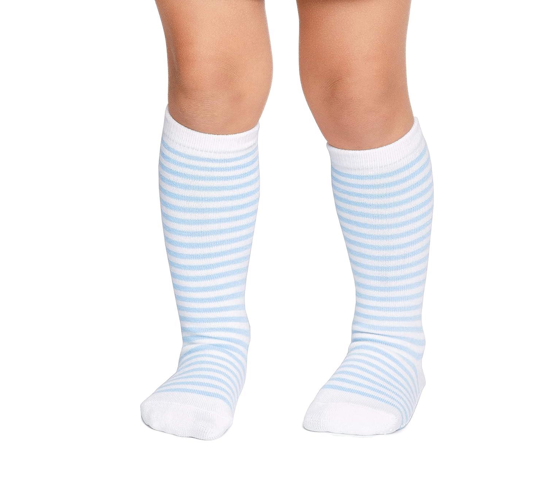 5 Pairs Baby Toddler Non Slip//Skid Cotton LA Active Knee High Grip Socks