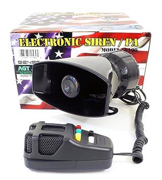 Police Siren 5 Tone PA System 60W Emergency Sound