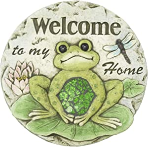 Spring Frogs on Lily Pads Garden Stepping Stone (Welcome to My Home)