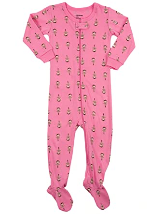 ffa04e0de Leveret Baby Girls Footed Sleeper Pajama 100% Cotton (Size 6M-5 ...