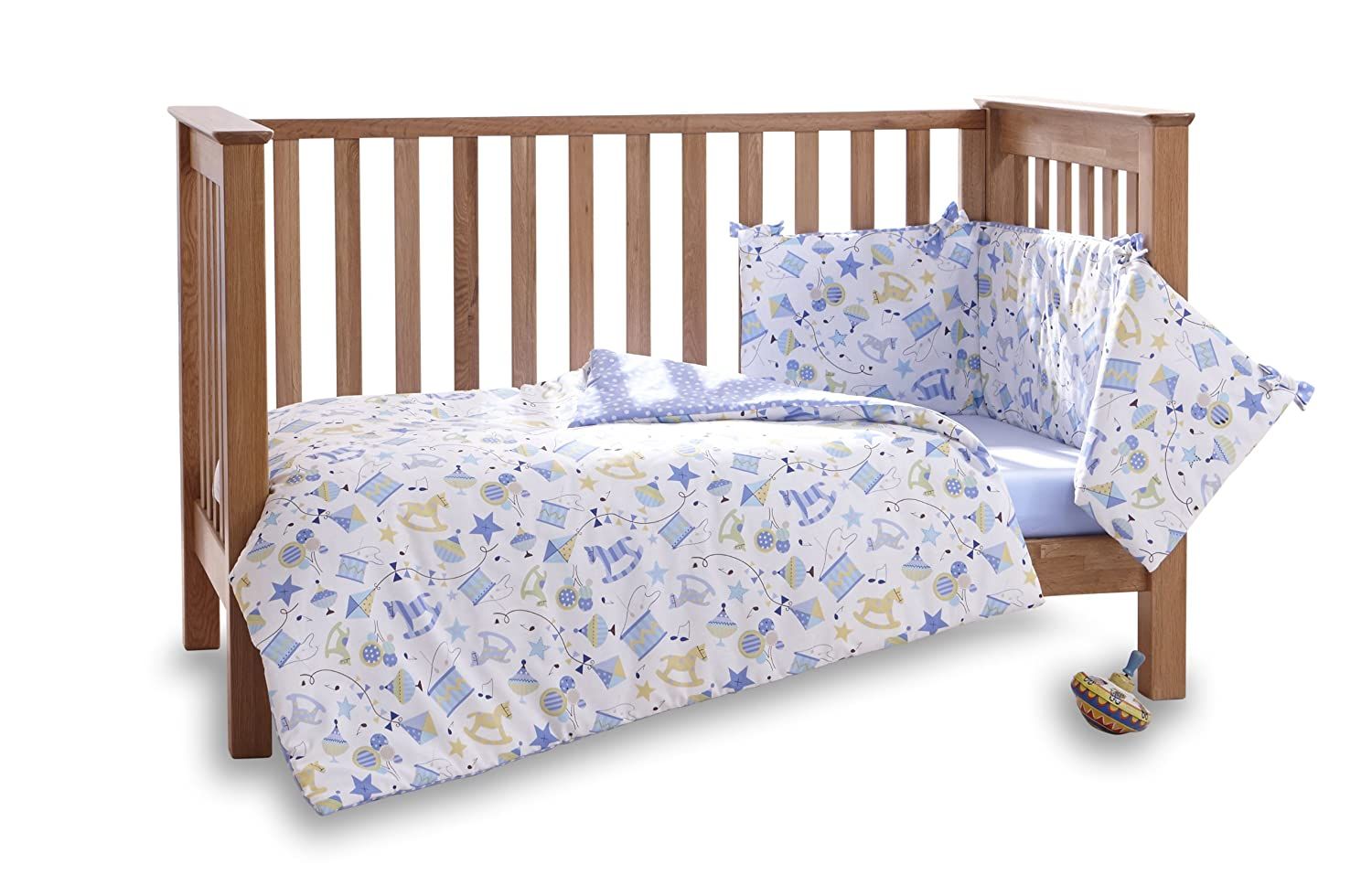 Clair de Lune Toy Shop Cot/Cot Bed Quilt and Bumper Set (2 Pieces) CL5155