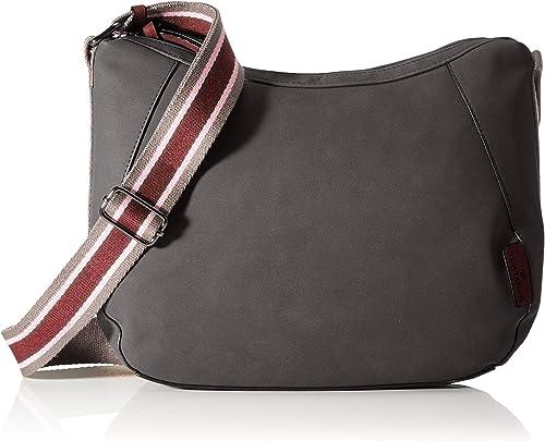 Tom Tailor Acc Damen Danja Umhängetasche Dunkelgrau M Schuhe Handtaschen