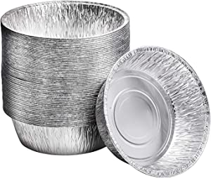 10-Inch Aluminum Dutch Oven Liner Pans (10 Count) Cake Pan and Extra Deep Aluminum Foil Pans for Baking and Camping